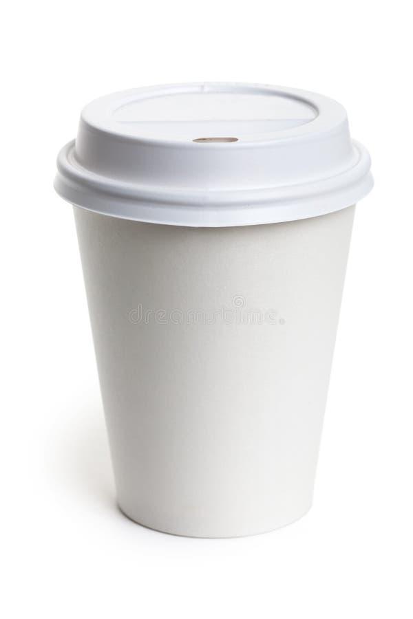 белизна чашки бумажная стоковое фото