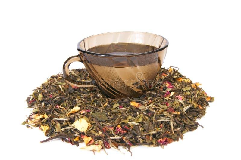 белизна чая чашки стоковая фотография rf
