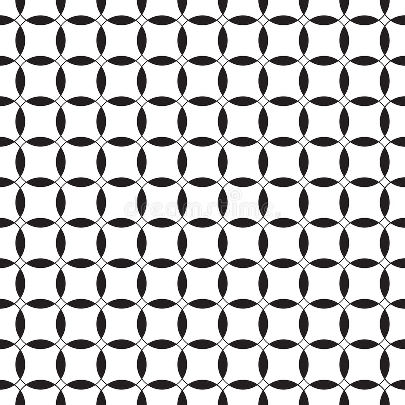 белизна черной картины безшовная Стоковое Фото