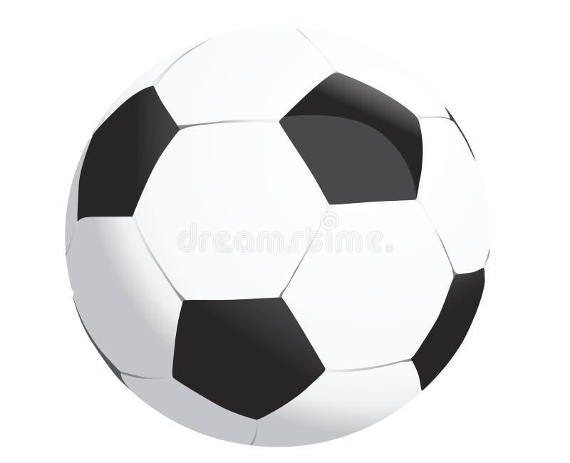 Белизна черноты футбольного мяча футбола для кубка мира иллюстрация штока