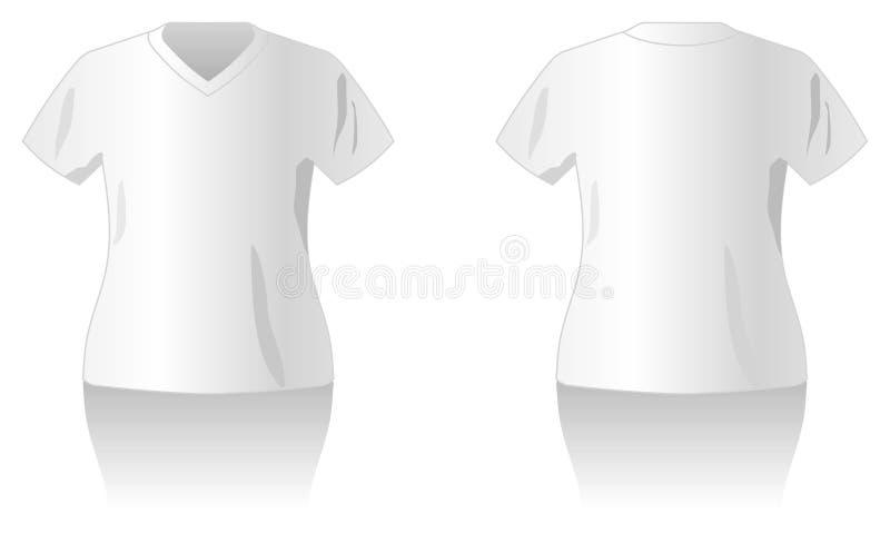 белизна шаблона рубашки t конструкции иллюстрация штока