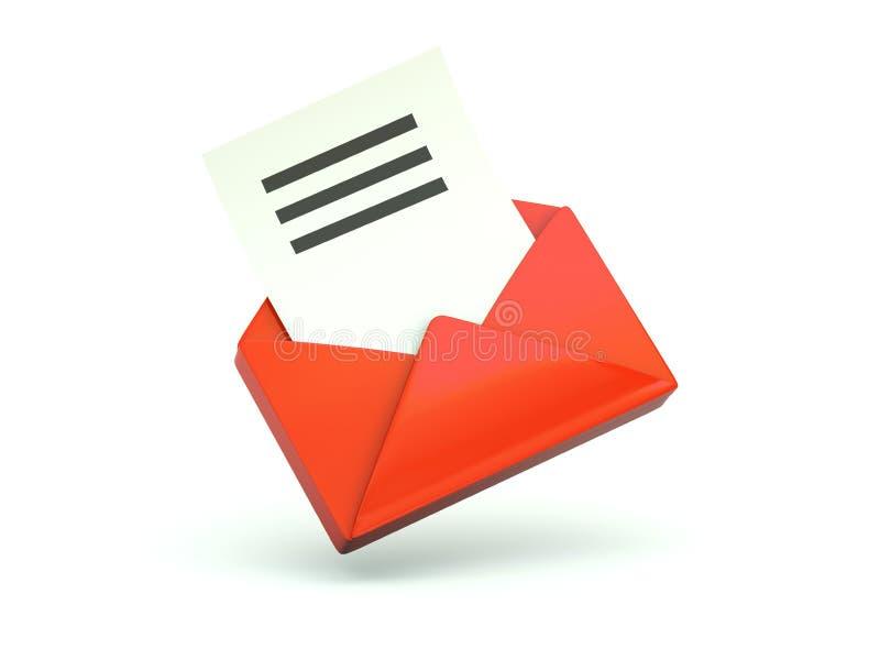 белизна электронной почты изолированная иконой бесплатная иллюстрация