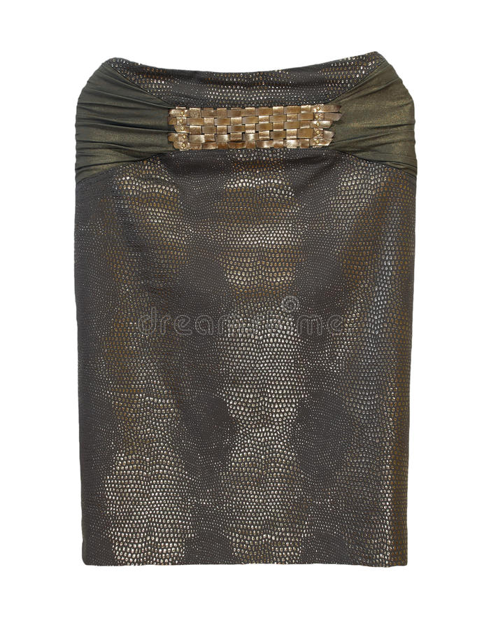 белизна юбки карандаша предпосылки коричневая изолированная стоковая фотография rf