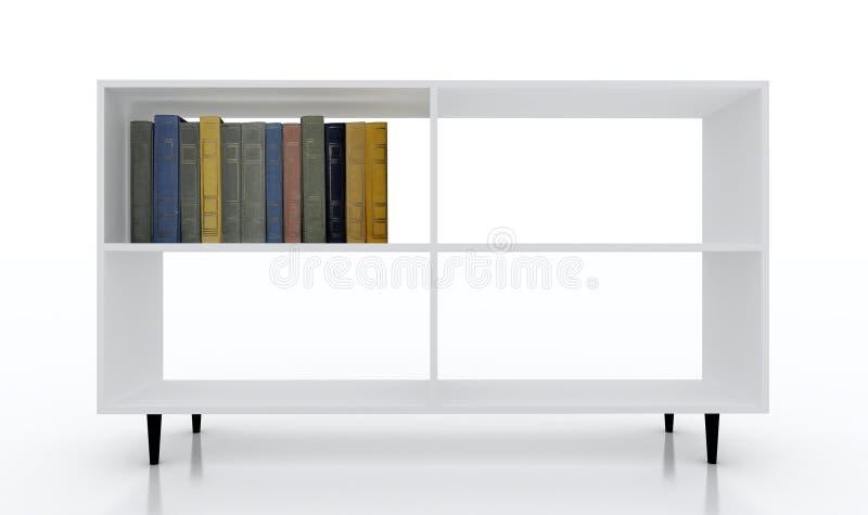 белизна bookcase стоковое изображение