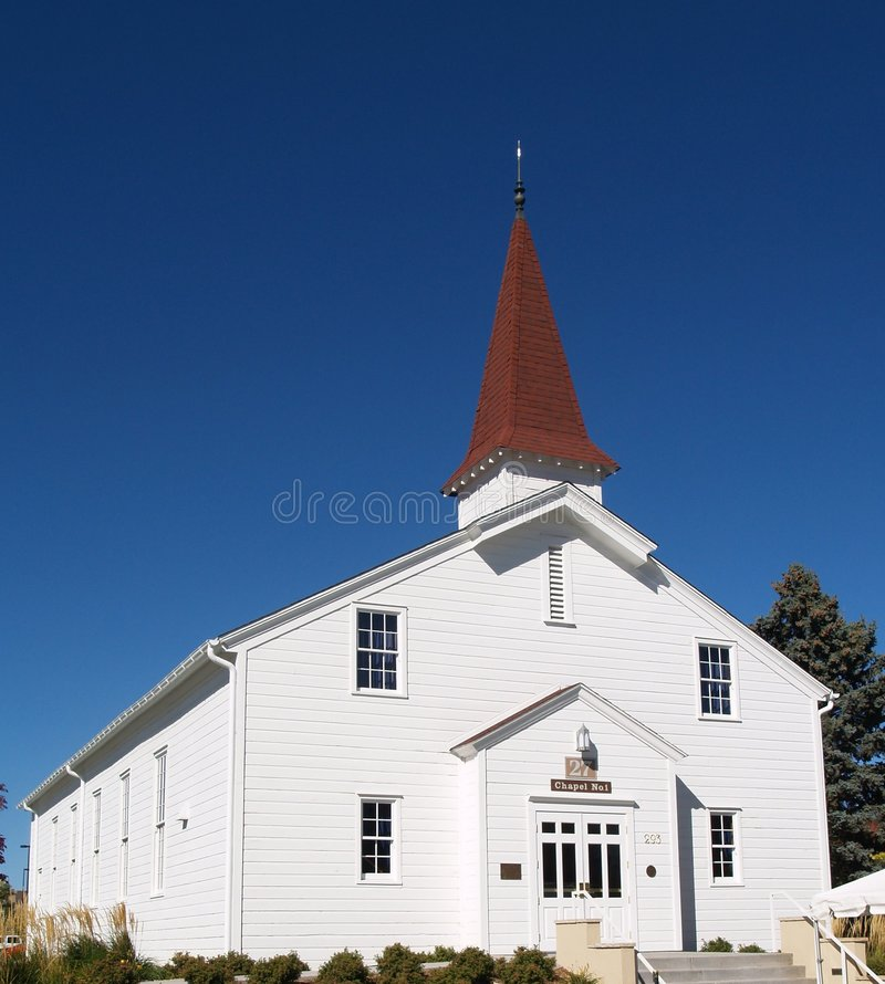 белизна eisenhower церков молельни стоковое фото