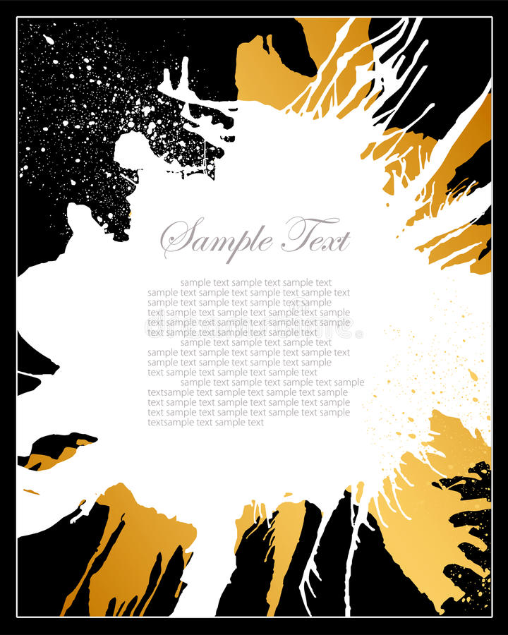 белизна grunge черного золота предпосылки иллюстрация штока