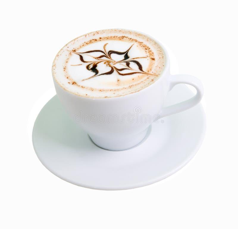 белизна latte кофе шоколада стоковые изображения