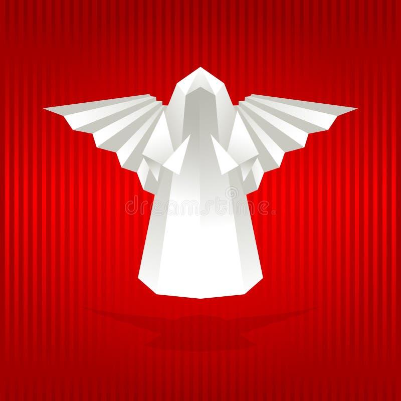 белизна origami ангела иллюстрация вектора