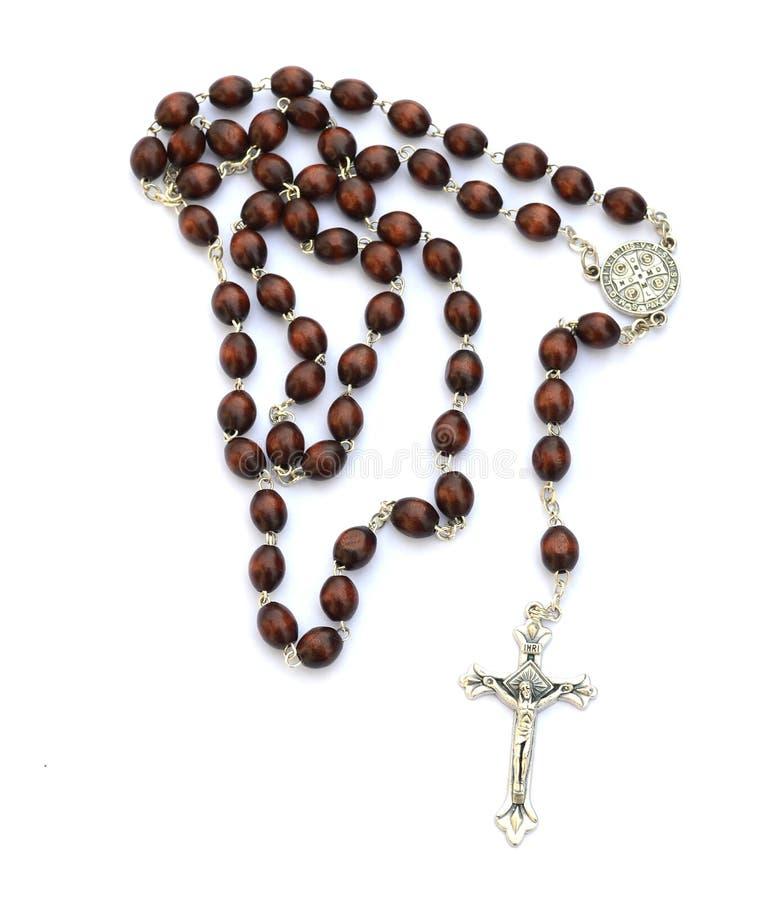 белизна rosary предпосылки стоковое изображение rf