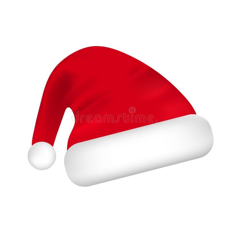 белизна santa предпосылки изолированная шлемом рождество украшает идеи украшения свежие домашние к вектор бесплатная иллюстрация