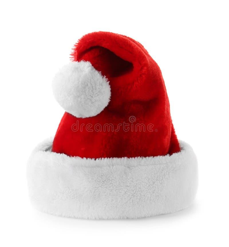 белизна santa шлема claus предпосылки красная стоковые изображения