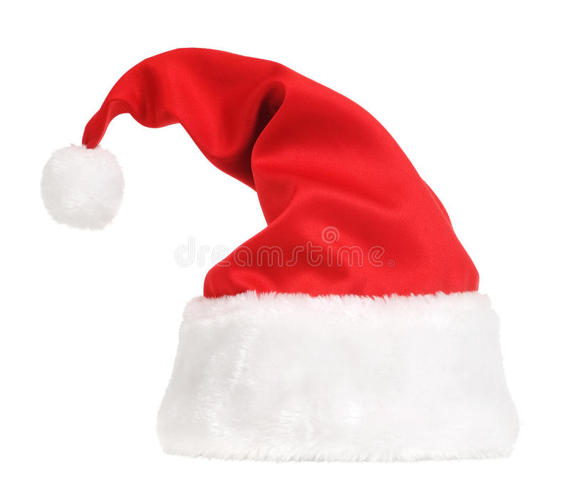 белизна santa шлема claus стоковая фотография rf