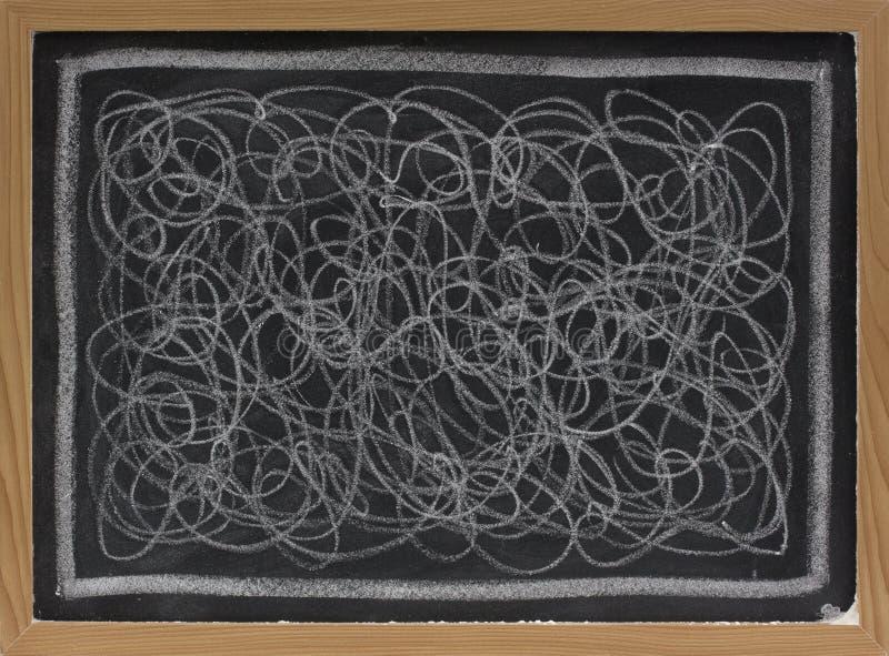 белизна scribble мелка классн классного стоковая фотография
