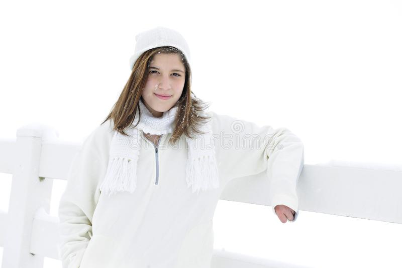 Белизна Snowy предназначенная для подростков стоковое фото rf