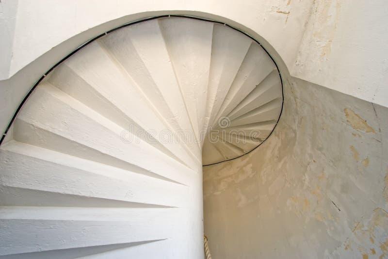 белизна staircaise маяка стоковые фотографии rf