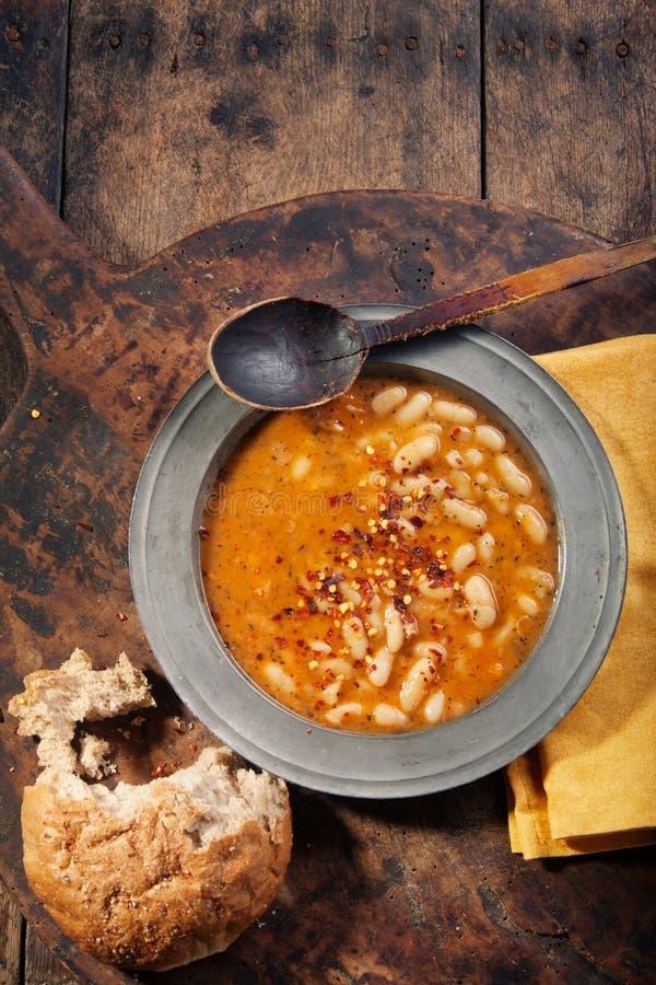 белизна stew фасоли стоковые изображения