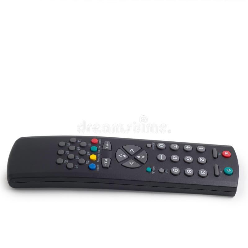 белизна tv предпосылки изолированная управлением дистанционная стоковое изображение