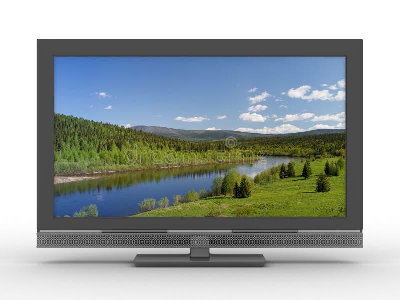 белизна tv предпосылки бесплатная иллюстрация