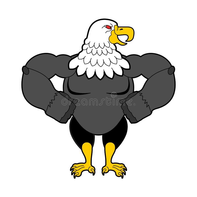 Белоголовый орлан сильный E также вектор иллюстрации притяжки corel иллюстрация вектора