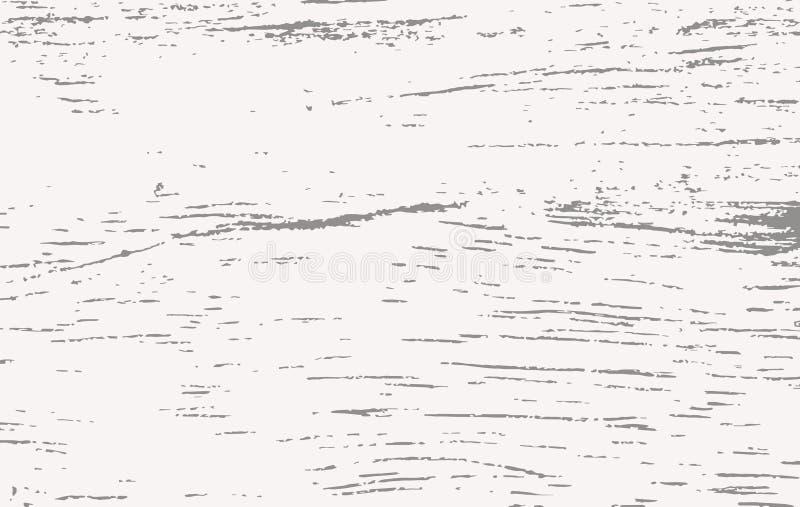 Белое деревянное вырезывание, прерывая доска, таблица или поверхность пола Деревянная текстура иллюстрация вектора