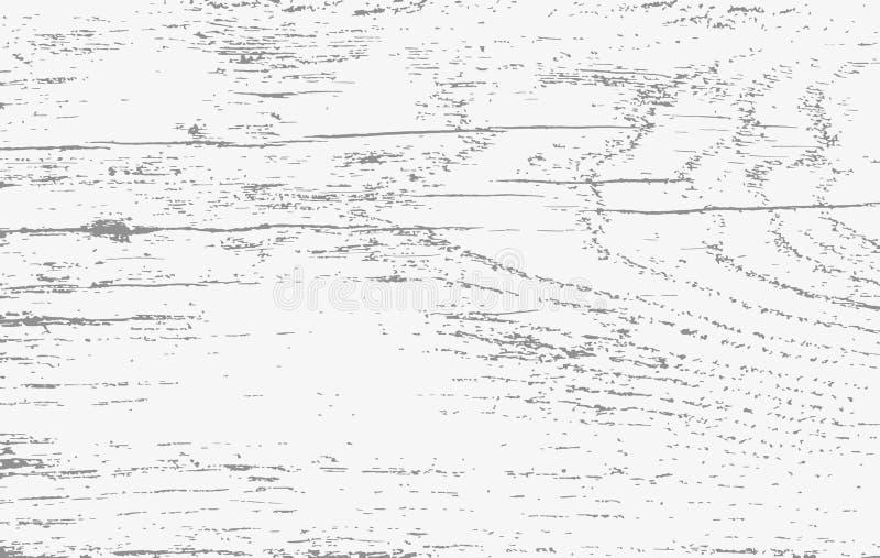 Белое деревянное вырезывание, прерывая доска, таблица или поверхность пола Деревянная текстура также вектор иллюстрации притяжки  иллюстрация вектора