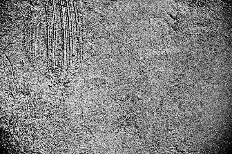 Белое покрашенное фото текстуры Белый гипсолит почистил текстуру щеткой Grungy крупный план бетонной стены стоковое изображение