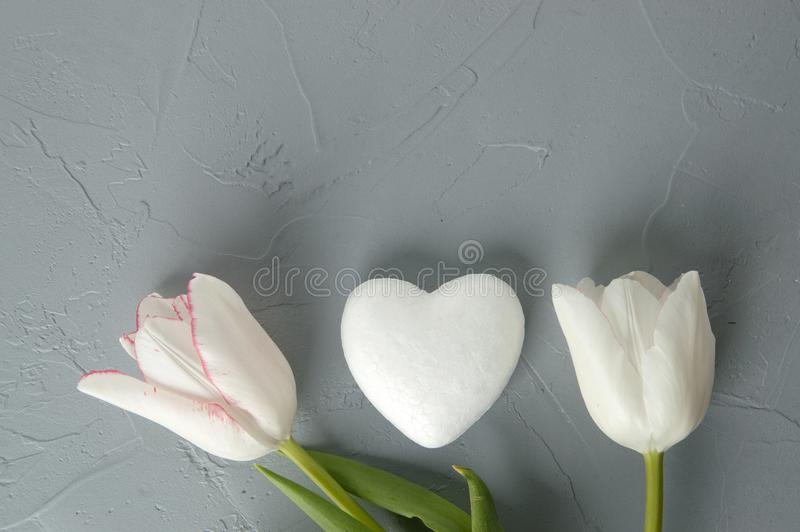 Белое сердце стоковое фото rf