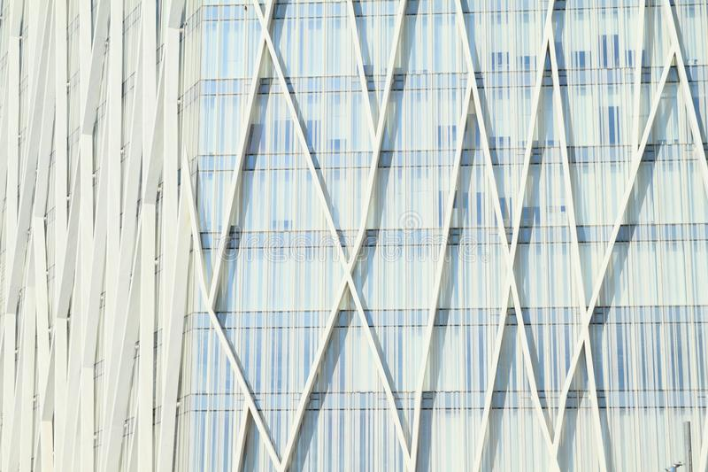 Белое современное офисное здание стоковое изображение rf