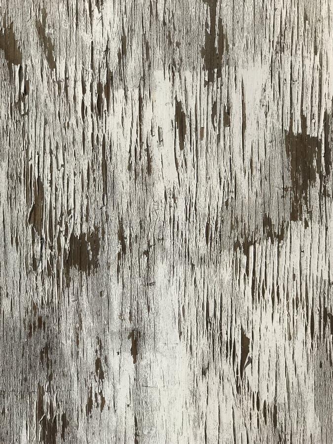 Белое старое шелушение краски от деревянной поверхности стоковая фотография rf