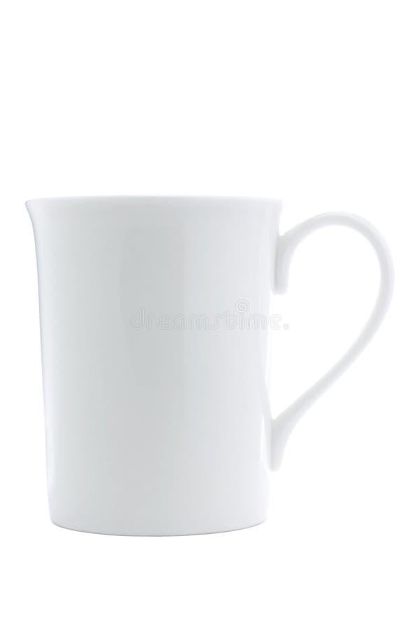 Белое чашка изолированное на белизне стоковое фото rf