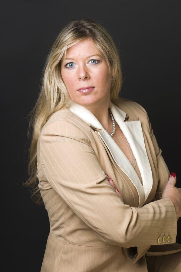белокурая женщина съемки корпоративной головки сексуальная стоковое изображение rf