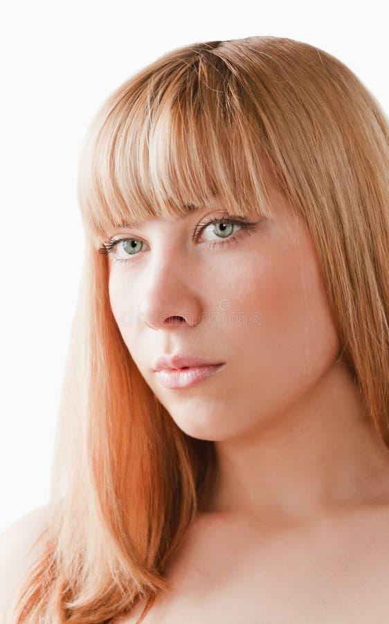белокурая женщина стоковое изображение