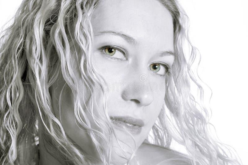 белокурая шикарная женщина стоковое изображение