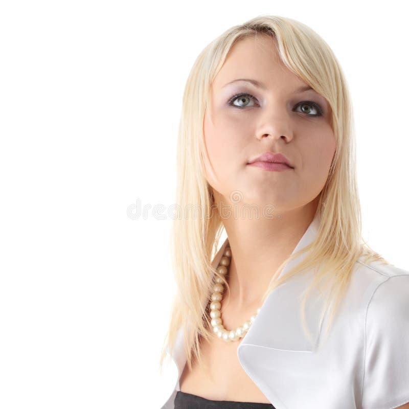 белокурая шикарная предназначенная для подростков женщина стоковая фотография rf
