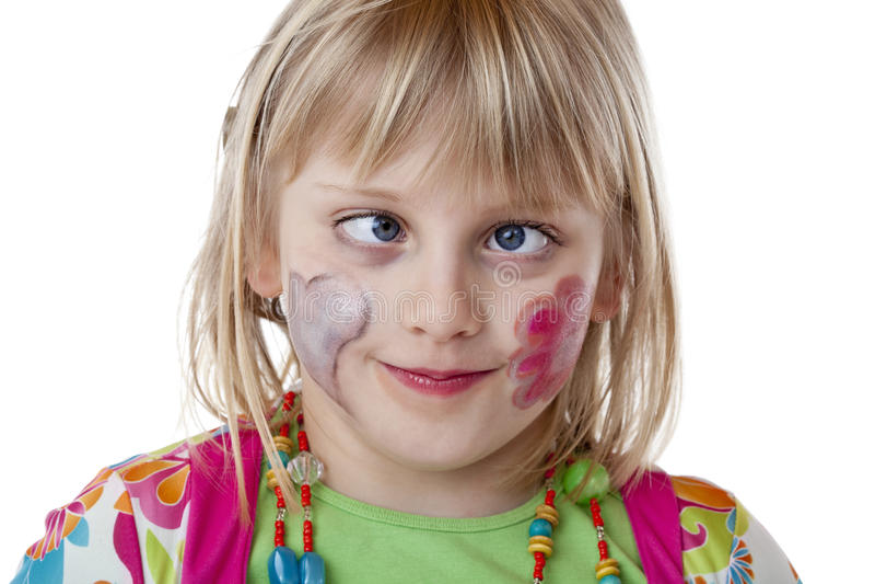 белокурые детеныши strabismus девушки стоковая фотография