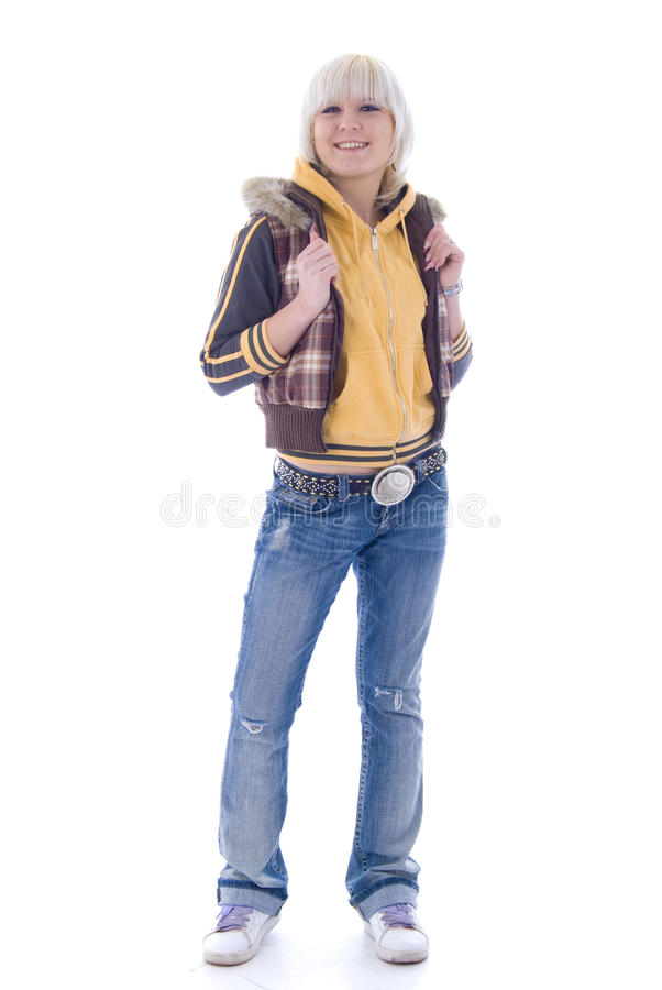 белокурые джинсыы стоковые фотографии rf