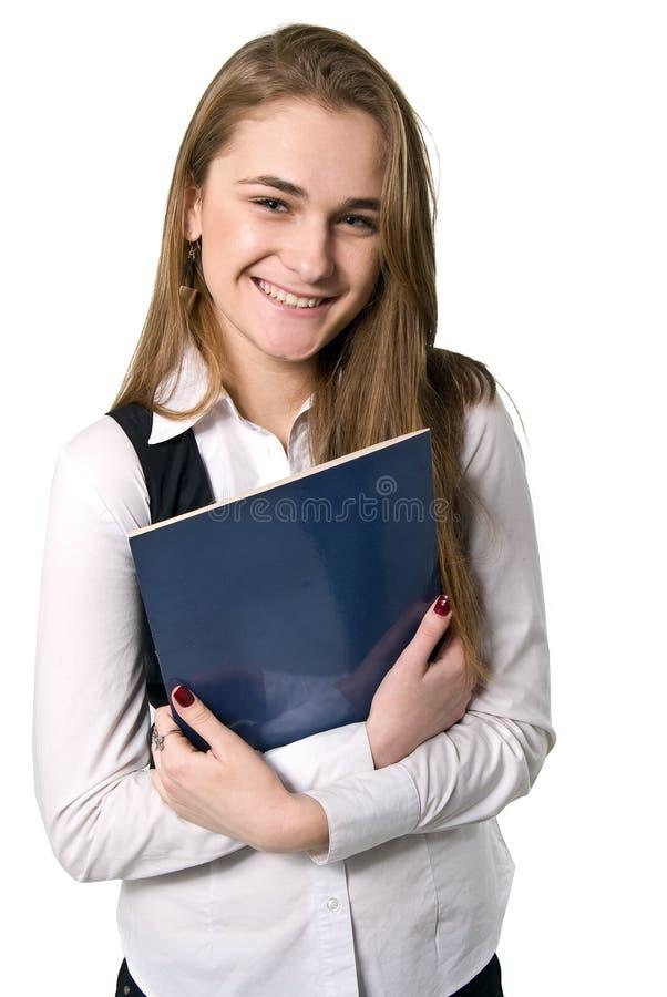 белокурый портрет офиса девушки стоковое фото