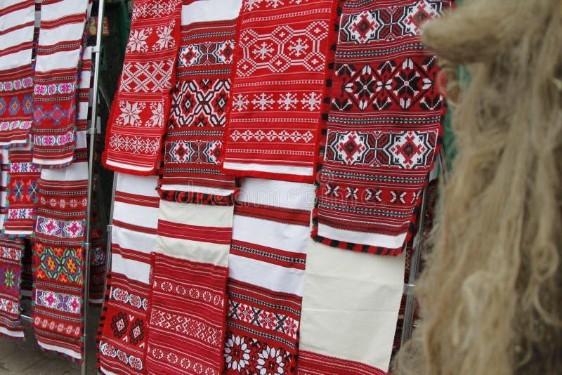 Белорусские полотенца сделанные из льна стоковые фотографии rf