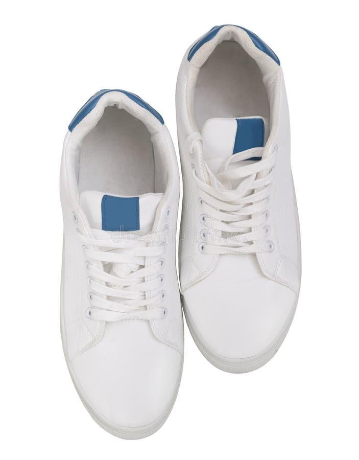 Белые ботинки спорта изолированные на белой предпосылке стоковые изображения rf
