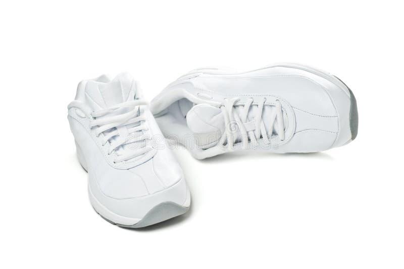Белые ботинки спорта Стоковая Фотография