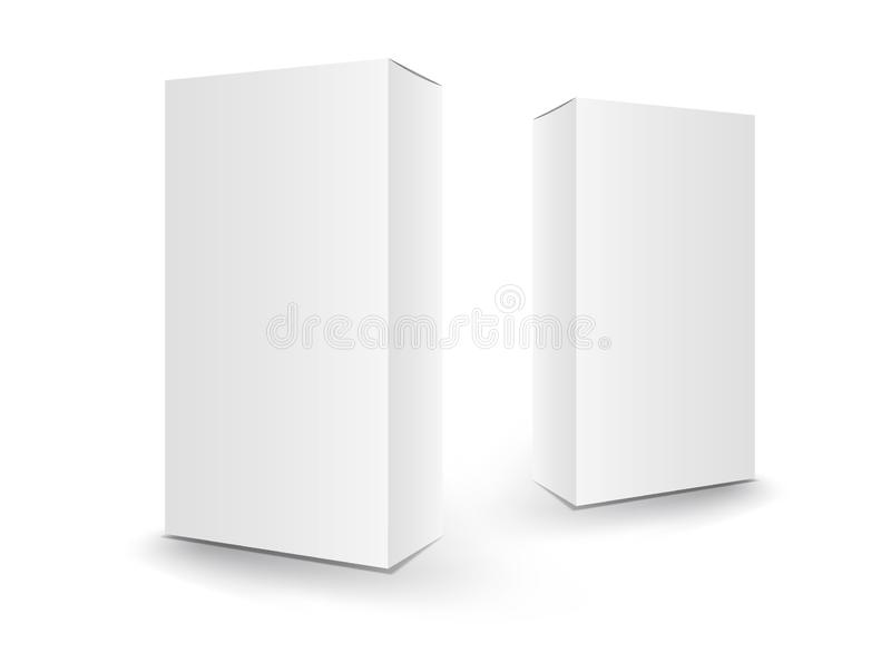 Белые вектор коробки пакета, комплексное конструирование, 3d коробка, о бесплатная иллюстрация
