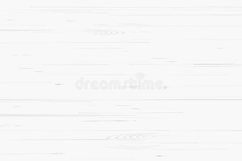 Белые деревянные картина и текстура для предпосылки вектор иллюстрация штока