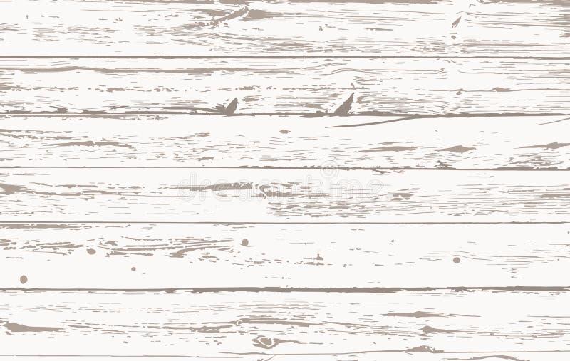 Белые деревянные планки, поверхность пола таблицы Резать прерывая доску Деревянная текстура также вектор иллюстрации притяжки cor бесплатная иллюстрация