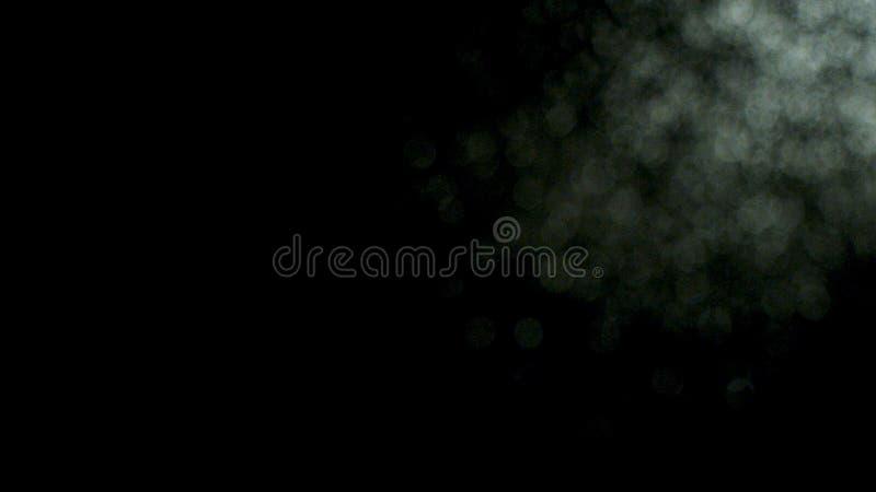 Белые запачканные твердые частицы пыли exploading на черной предпосылке, в стоковые изображения
