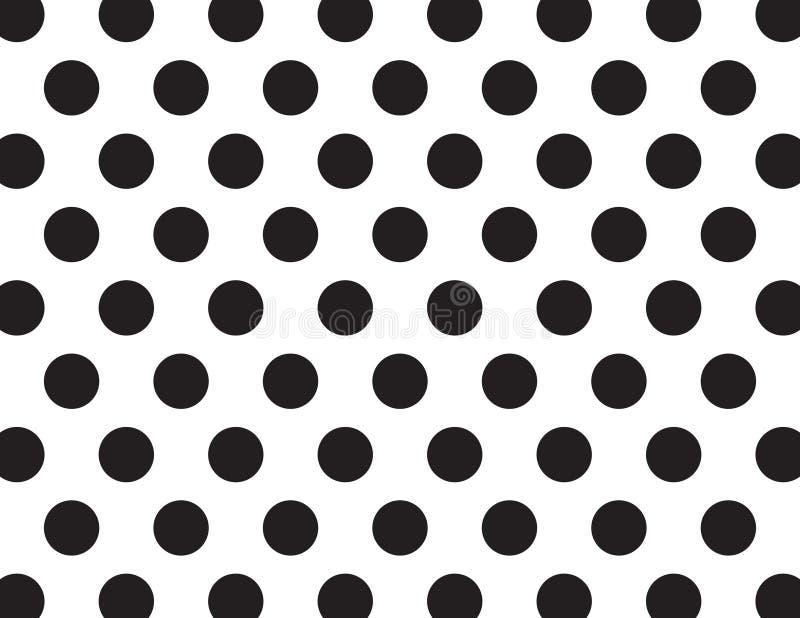Белые и черные точки польки иллюстрация штока