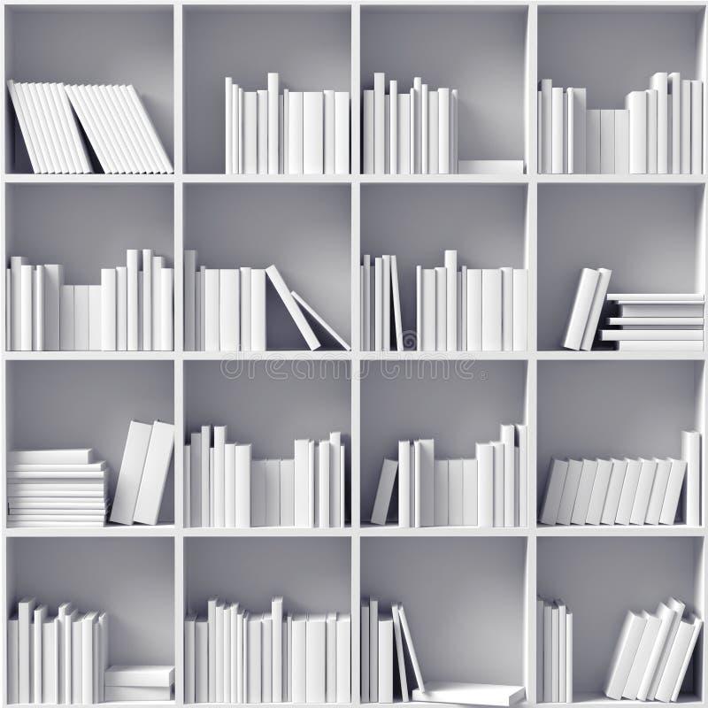 Белые книжные полки бесплатная иллюстрация