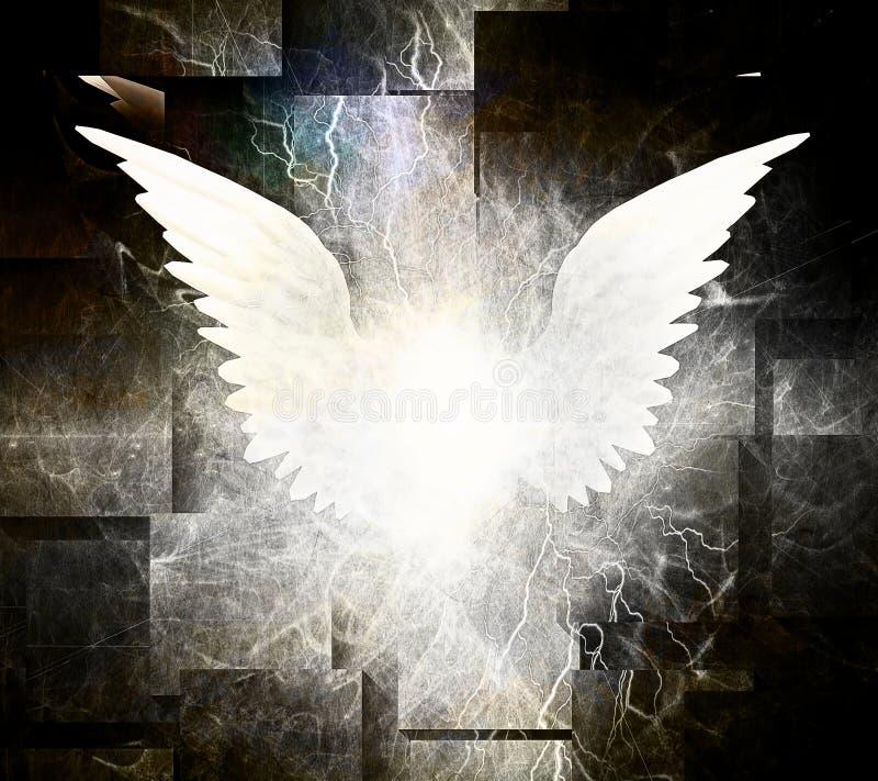 Белые крыла ангела иллюстрация вектора