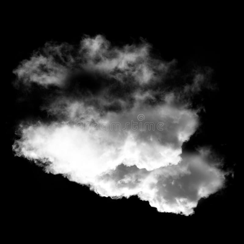 Белые облака изолированные над черной иллюстрацией предпосылки бесплатная иллюстрация