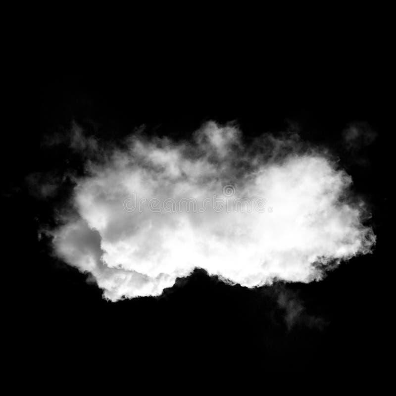 Белые облака изолированные над черной иллюстрацией предпосылки иллюстрация штока