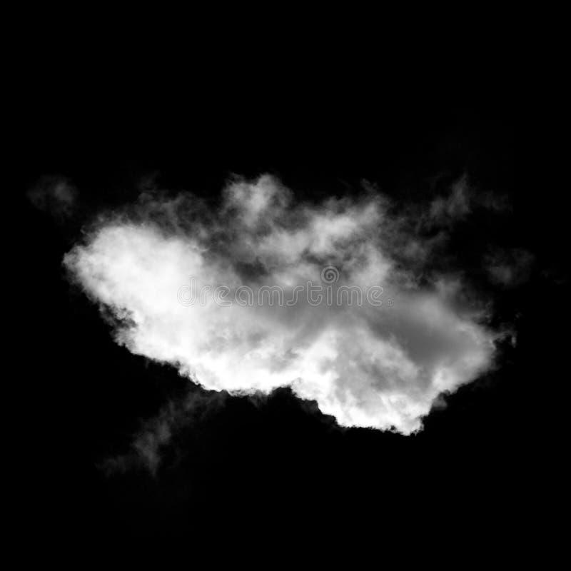Белые облака изолированные над черной иллюстрацией предпосылки иллюстрация вектора